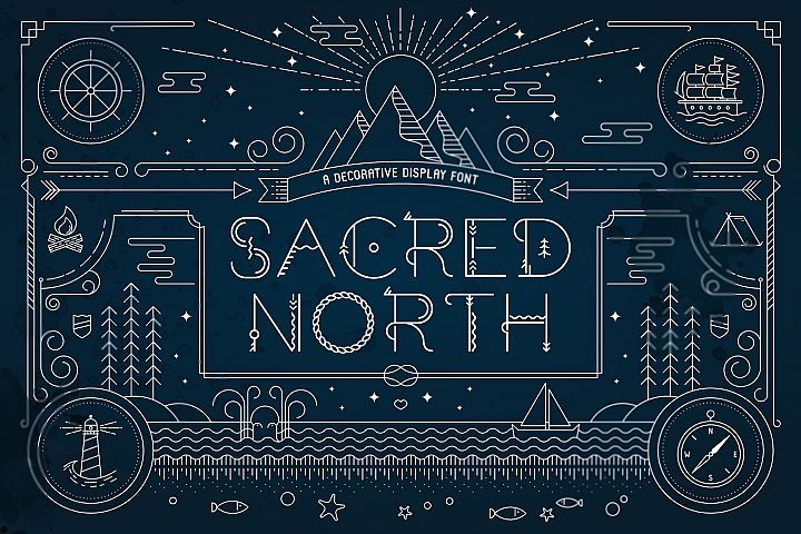 Sacred North Display Font