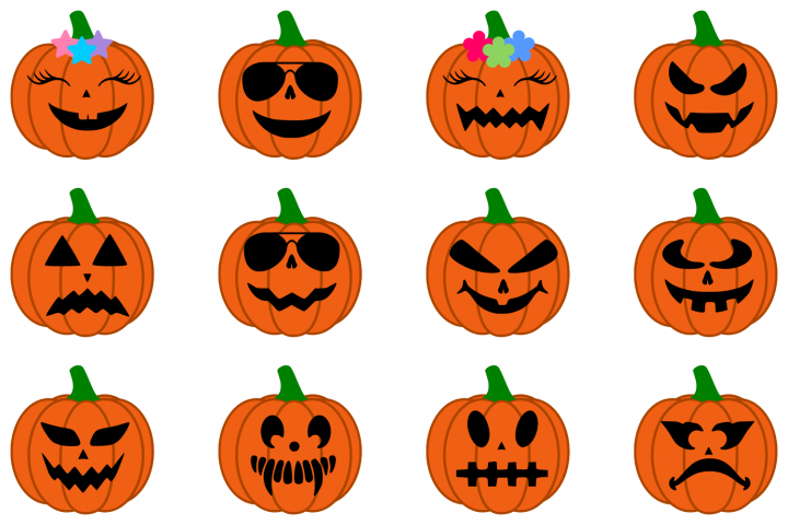 Halloween SVG Pumpkin SVG Halloween Pumpkin SVG DXF PNG EPS