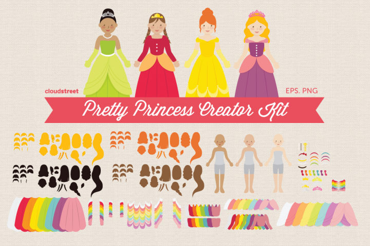 Pretty Princess Creator Kit Clipart