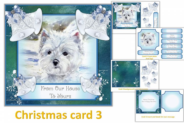 Christmas Card Making Kit with free clipart example 3