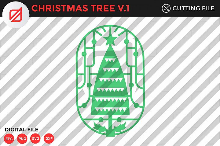 Christmas Tree Ornament Cutting File-SVG