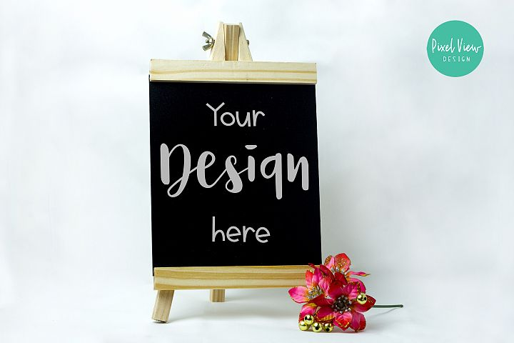 Chalkboard Sign Mock-Up I Styled Stock Photo