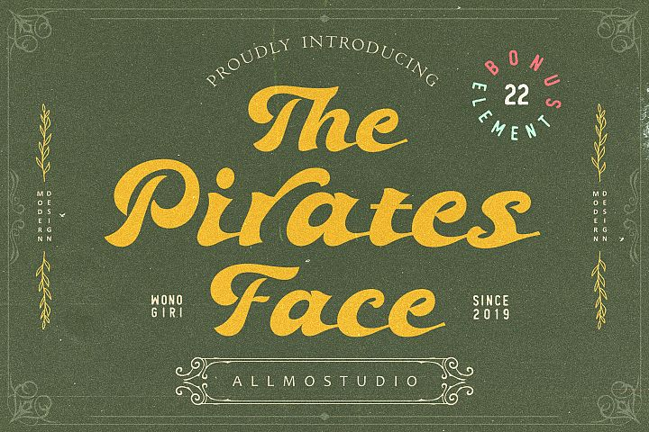 The pirates face font