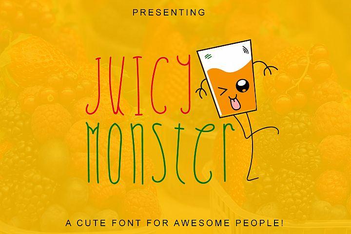Juicy Monster - A Fun Cute Font