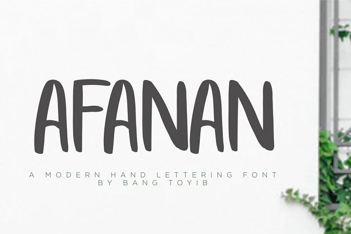 AFANAN - Handmade Font example