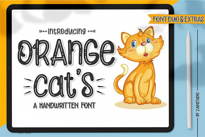Orange Cats Display Font