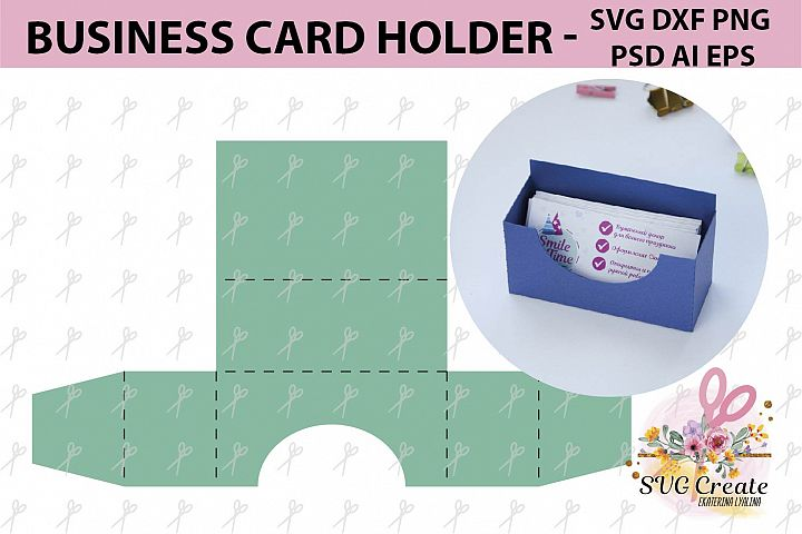 Business card holder template stand paper organiser box