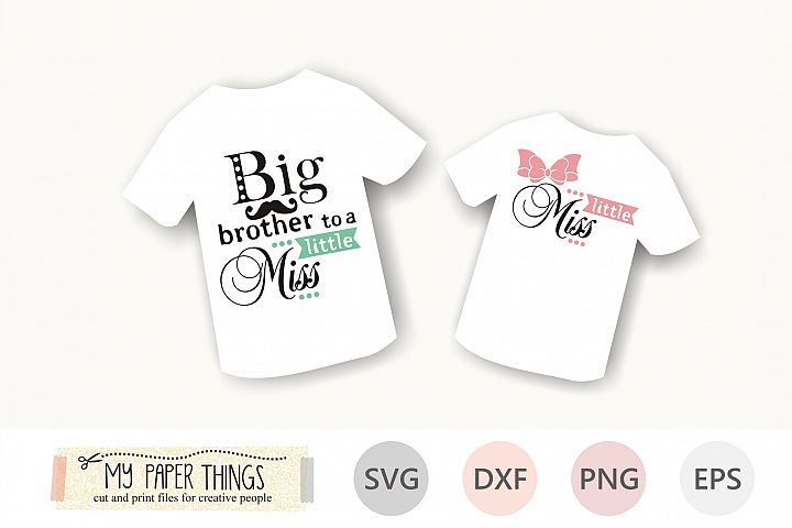 Big brother svg, Little sister svg, Siblings svg