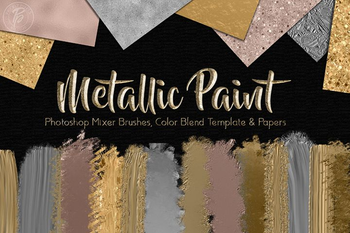 Metallic Paint Photoshop Designer Set