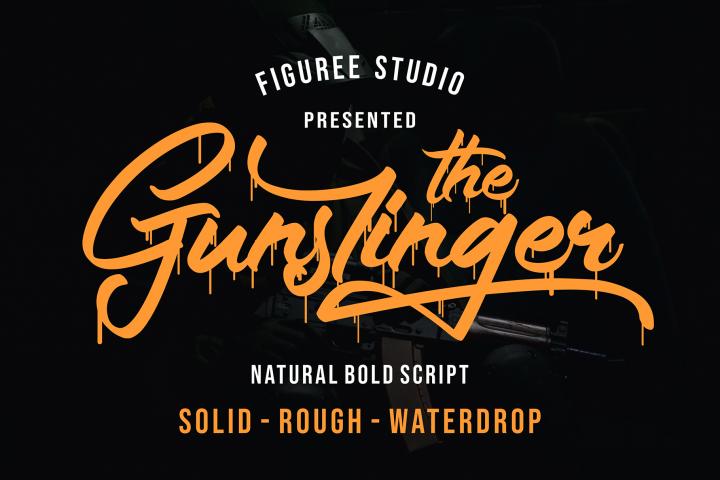 The Gunslinger - 3 Style Font