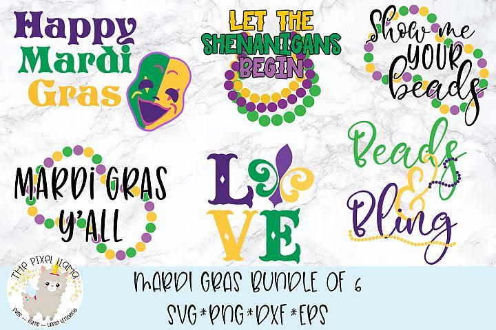 Mardi Gras Bundle Of 6 SVG Cut Files