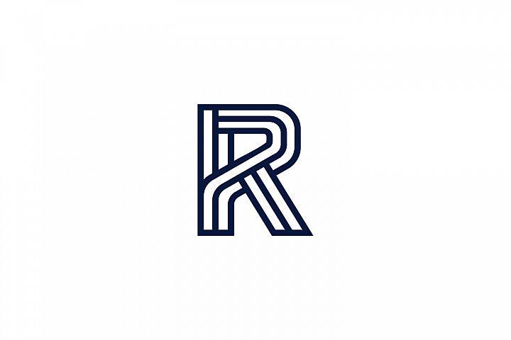 Geometric R initial Logo