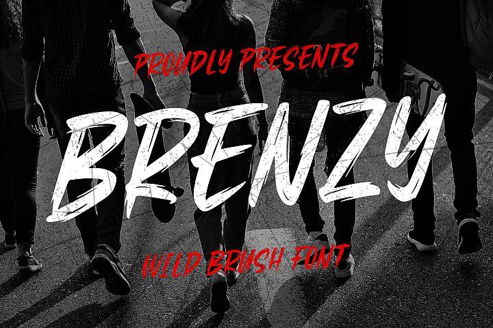 Brenzy - Wild Brush Font