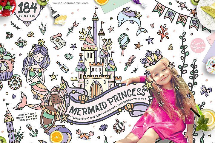 Mermaid Princess - Cute Summer Girl Clipart