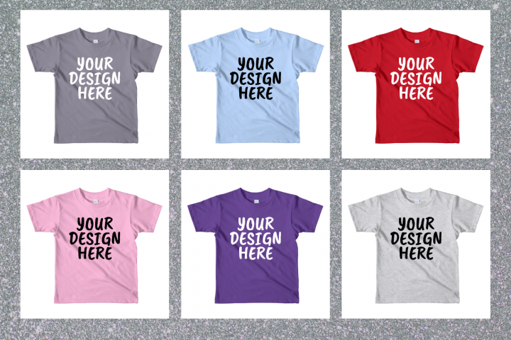 American Apparel 2105W Kids T-shirt Mock Ups - 10|PNG