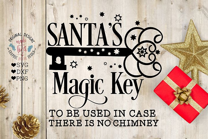 Christmas SVG - Santas Magic Key