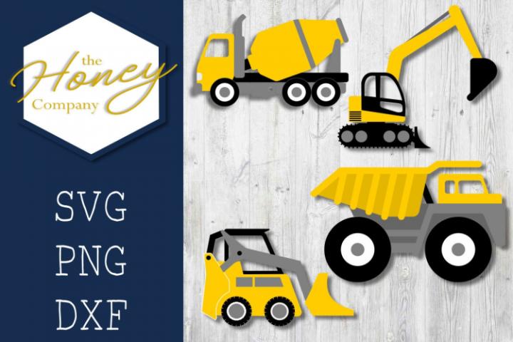 Construction Truck SVG PNG DXF Bundle Kids Valentine File