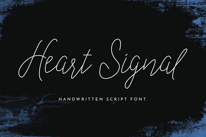 Heart Signal Typeface example image 1