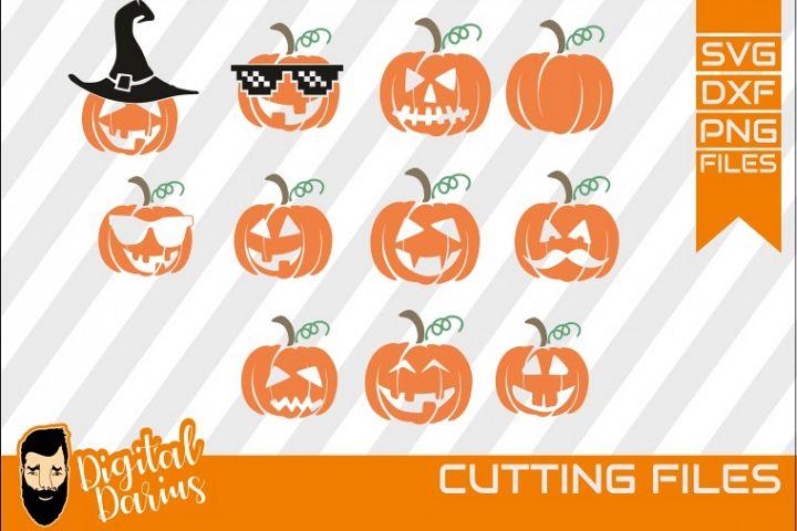11x Halloween set SVG Bundle, Pumpkin, Ghost, Spooky, Hat