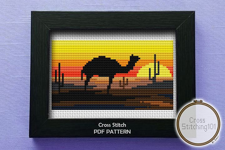 Desert Eve Cross Stitch Pattern - Instant Download PDF