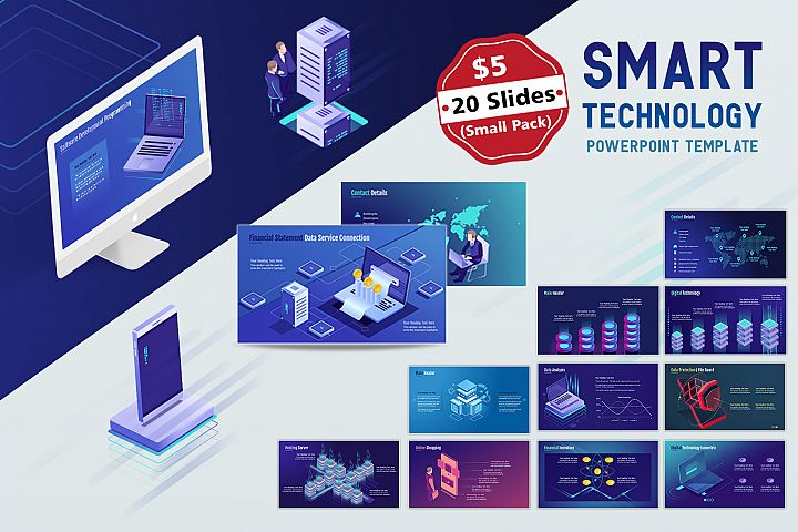 Smart Tech PPT Template Small Pack