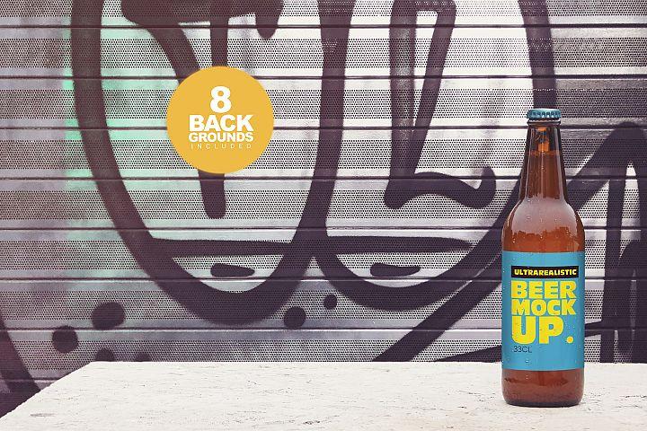 50cl/16.9oz Garage Beer Mockup
