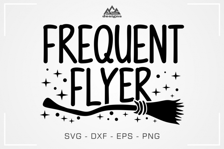 Frequent Flyer Witch Halloween Svg Design