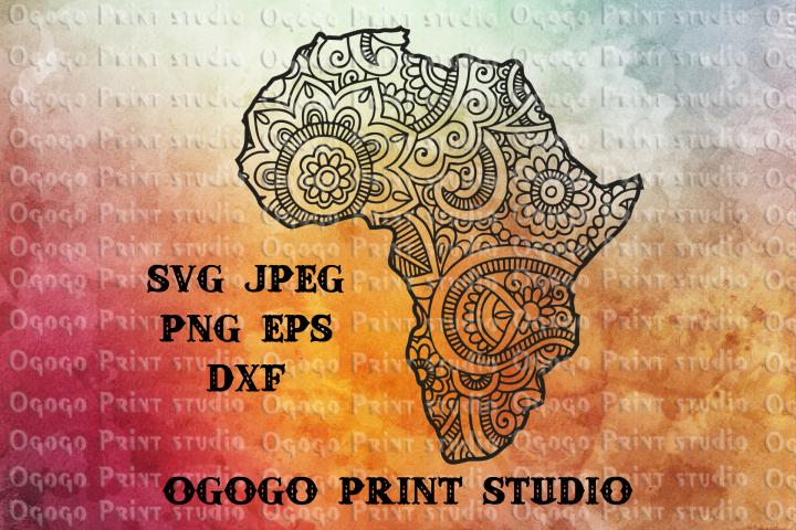 Africa SVG, Zentangle SVG, Travel svg, Mandala svg