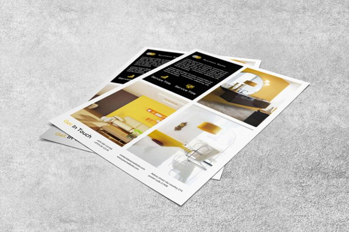 Interior design flyer