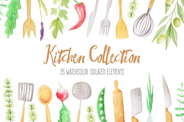 Watercolor Kitchen Collection