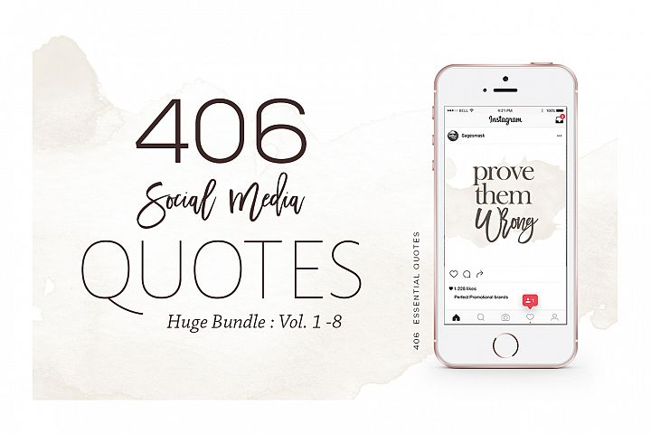 406 Instagram Essential Quotes Bundle