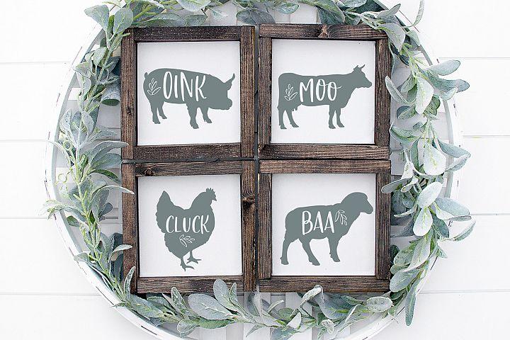 Farmhouse SVG Bundle, Farmhouse Animals Svg, Bundle