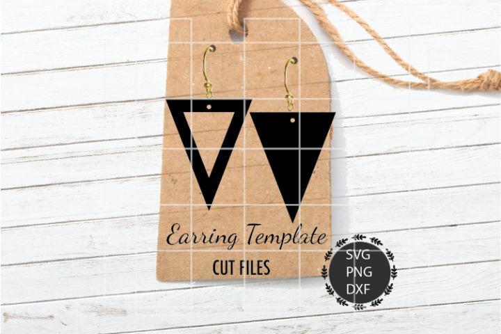 Triangle Earrings Svg, Double Cut Triangle Earrings Svg