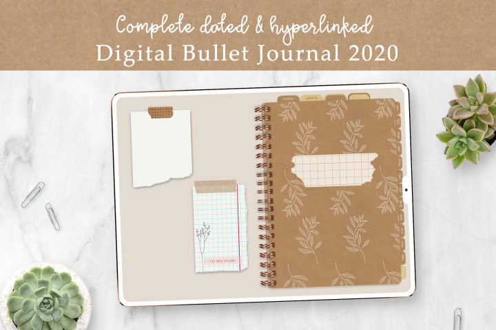 Digital Bullet Journal Planner 2020 | Dated | for GoodNotes