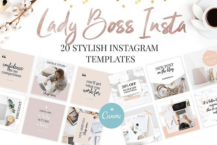 Canva Instagram Templates. Ladyboss