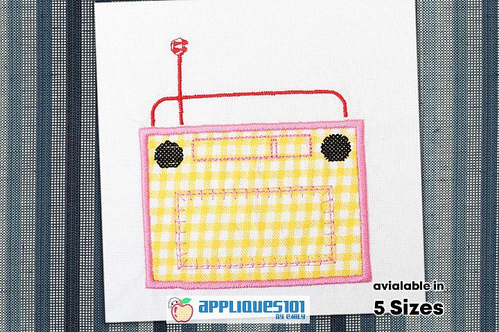 Classic Radio Embroidery Applique Design - Radios