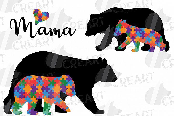 Mama Bear baby bear autism awareness printable shirt graphic