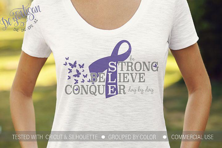 Lupus Be Strong Conquer Awareness Ribbon SVG