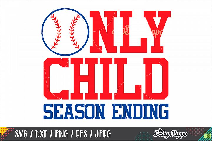Only Child Season Ending SVG DXF PNG Cut Files, Pregnancy