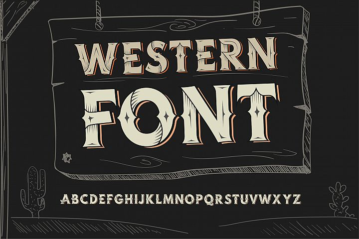 Western OTF vintage label font. Uppercase only!