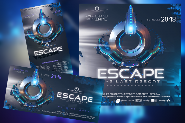 Escape EDM Banner