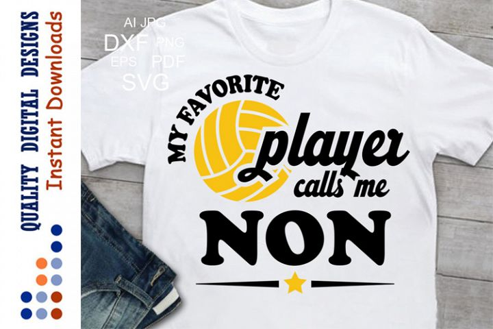 My Favorite Volleyball Player calls me NONDigital, Volleybal