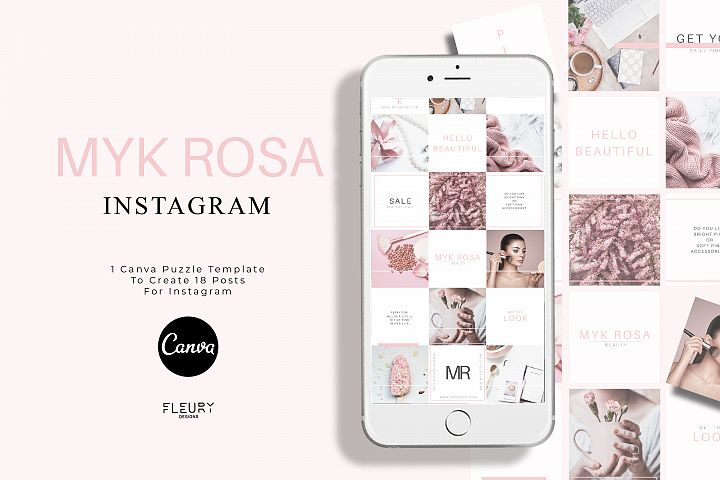 Instagram Puzzle Canva Template - Myk Rosa