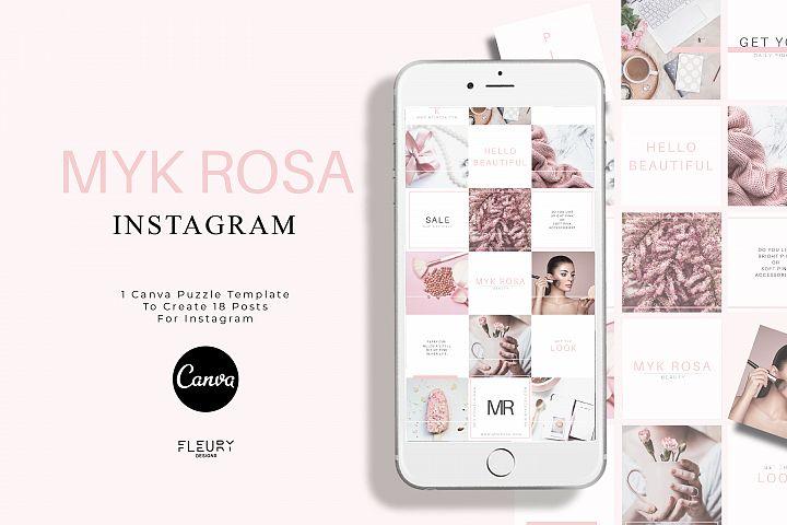 Instagram Puzzle Canva Template - Myk Rosa