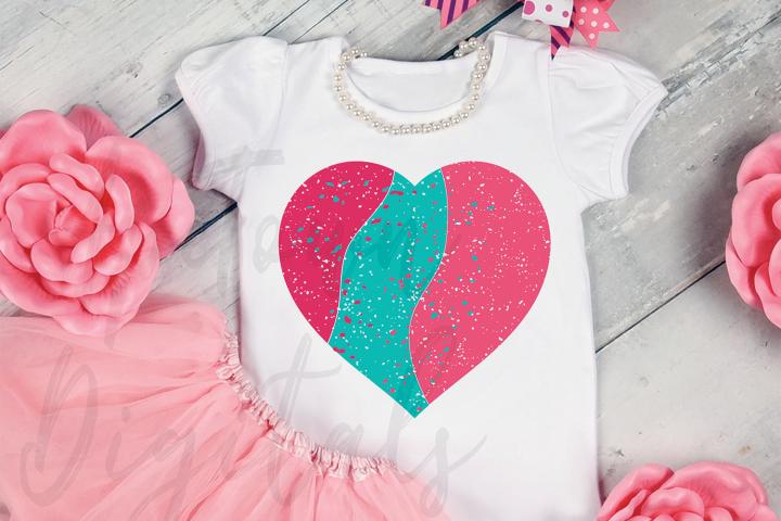 Valentines Day Grunge Heart SVG, love svg, heart svg