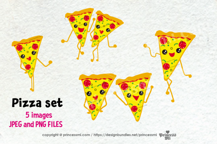 pizza clipart set