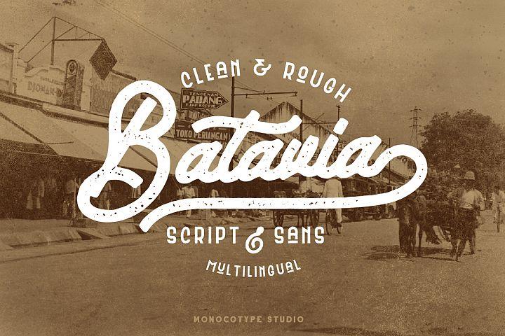 Batavia Script & Sans - Duo Font