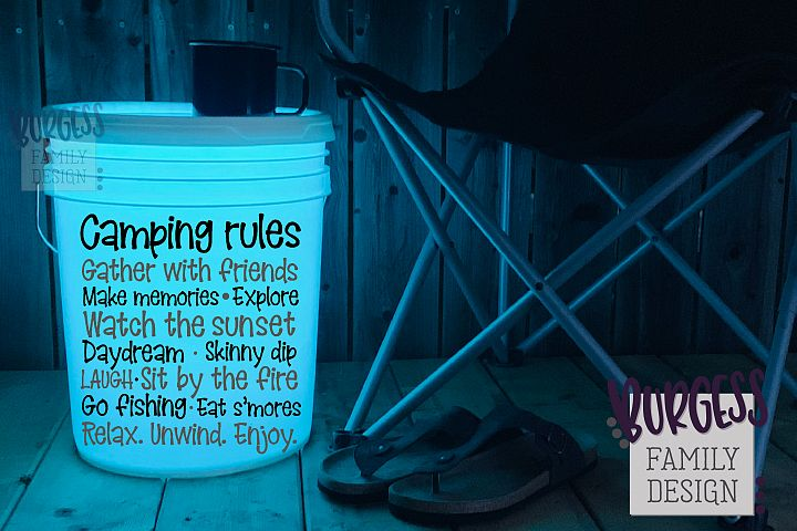 Camping rules | Cuttable file