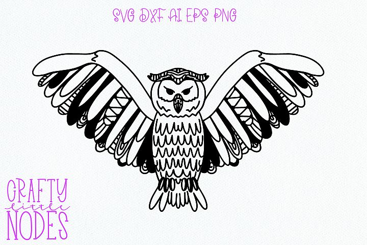 Intricate Cuttable Owl - SVG Design