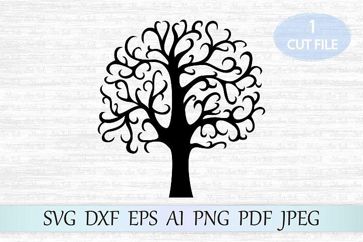 Tree svg, Family tree svg file, Tree cut file, Tree clipart